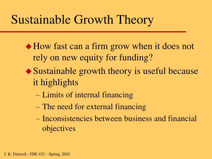 Sustainable growth theory