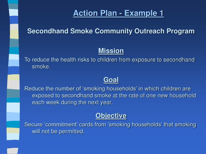 Action Plan - Example 1