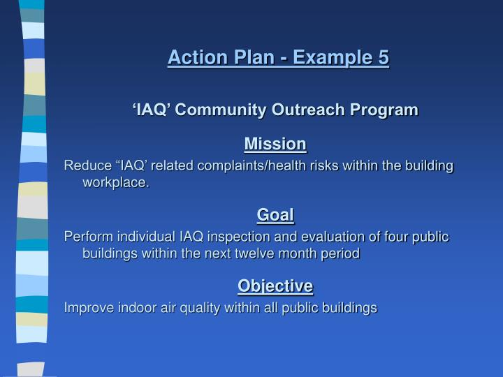 Action Plan - Example 5