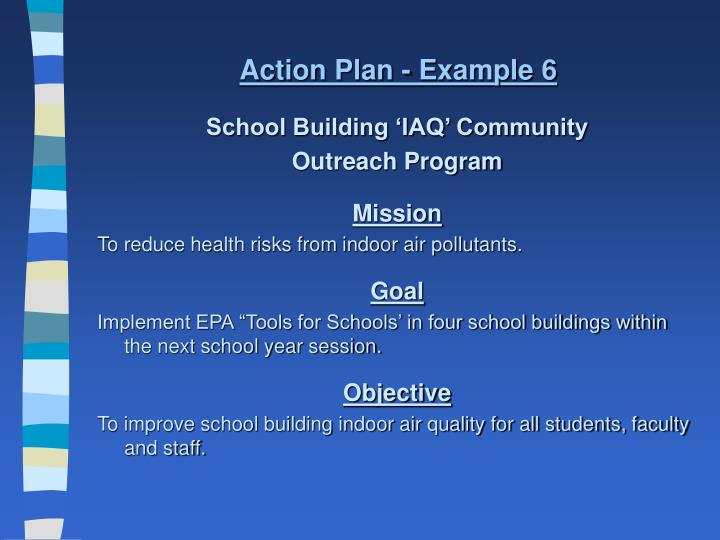 Action Plan - Example 6