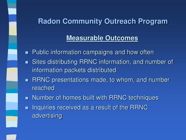 Radon Community Outreach Program