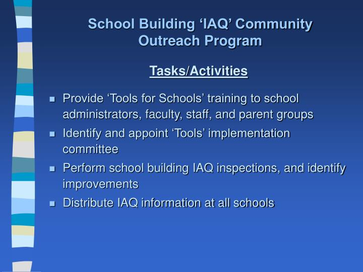 School Building 'IAQ' Community