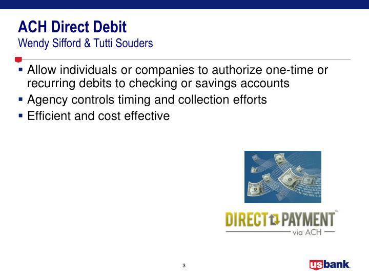 ACH Direct Debit