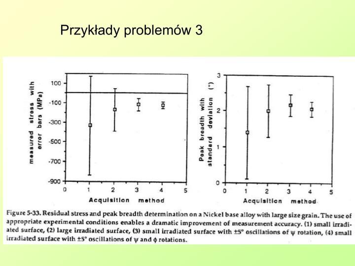 Przykłady problemów 3
