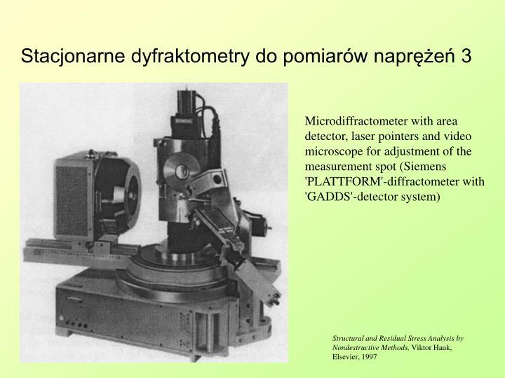 Stacjonarne dyfraktometry do pomiarów naprężeń 3