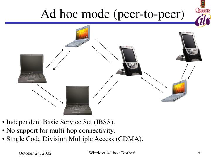 Ad hoc mode (peer-to-peer)