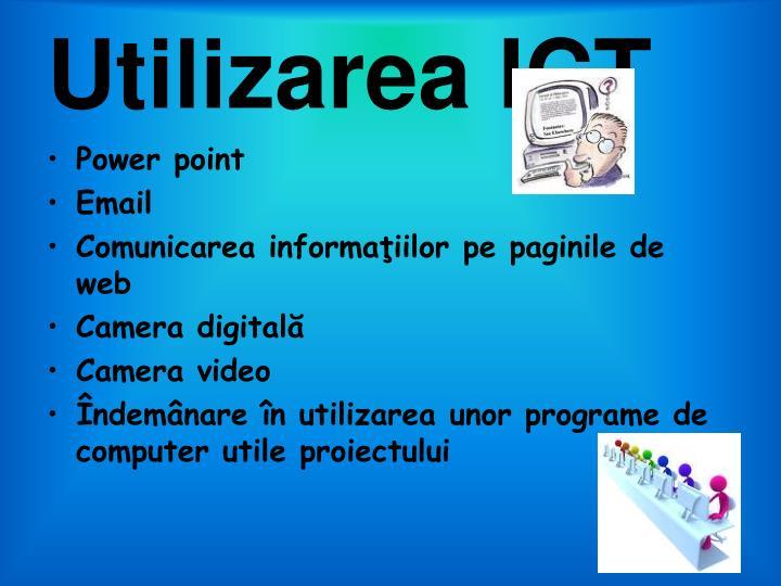 Utilizarea ICT