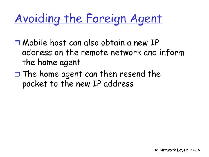 Avoiding the Foreign Agent