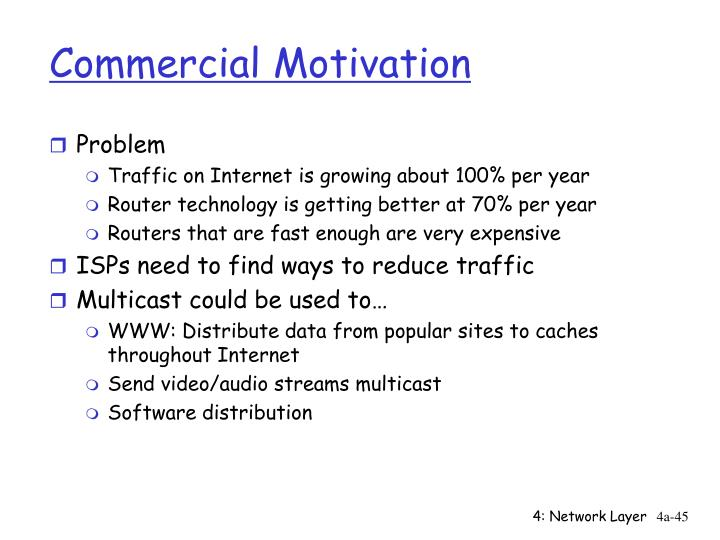 Commercial Motivation