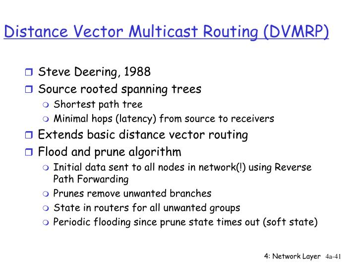 Distance Vector Multicast Routing (DVMRP)