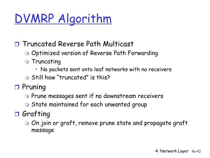 DVMRP Algorithm