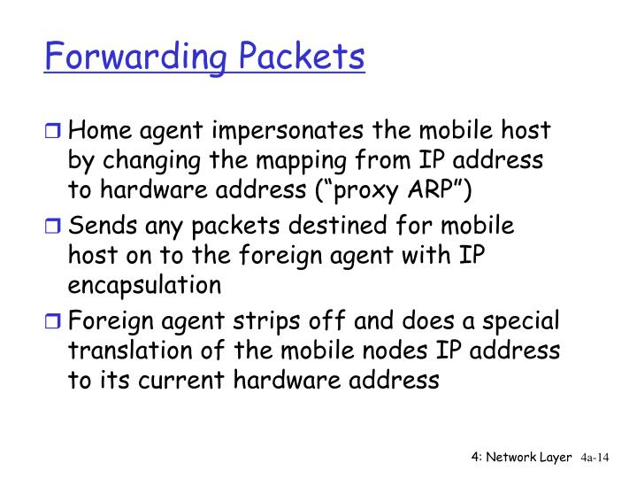 Forwarding Packets
