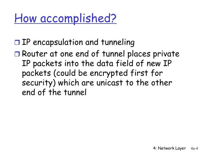 How accomplished?