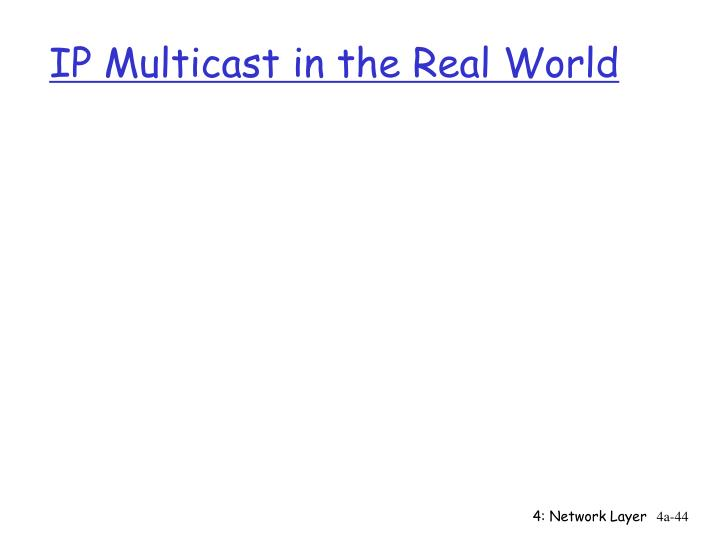 IP Multicast in the Real World