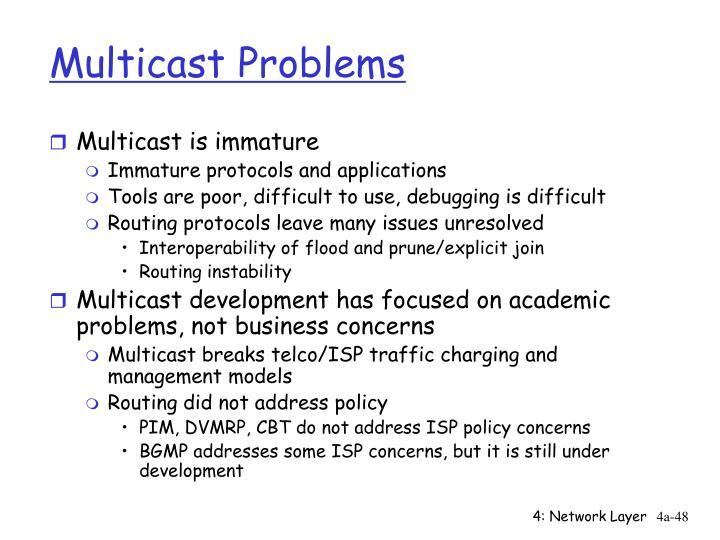 Multicast Problems