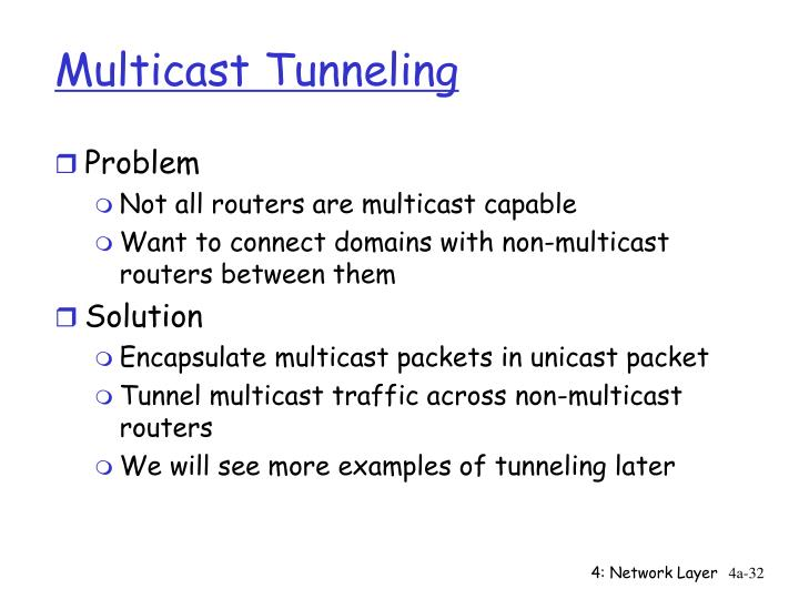Multicast Tunneling
