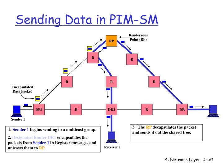 Sending Data in PIM-SM