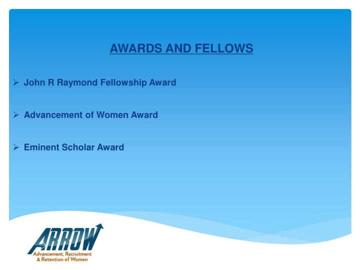 AWARDS AND FELLOWS