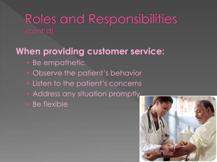 the importance role and responsibilities of a phlebotomist Phlebotomy certification center: phlebotomist duties and responsibilities   05 july 2017 timmons, bronwyn.