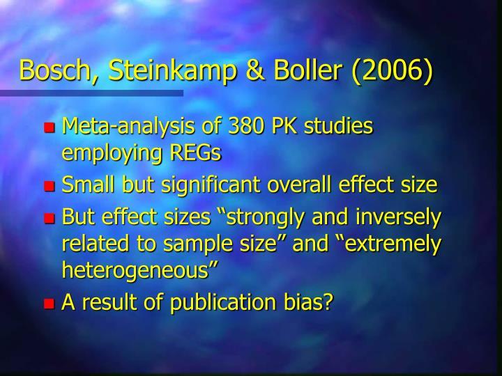 Bosch, Steinkamp & Boller (2006)