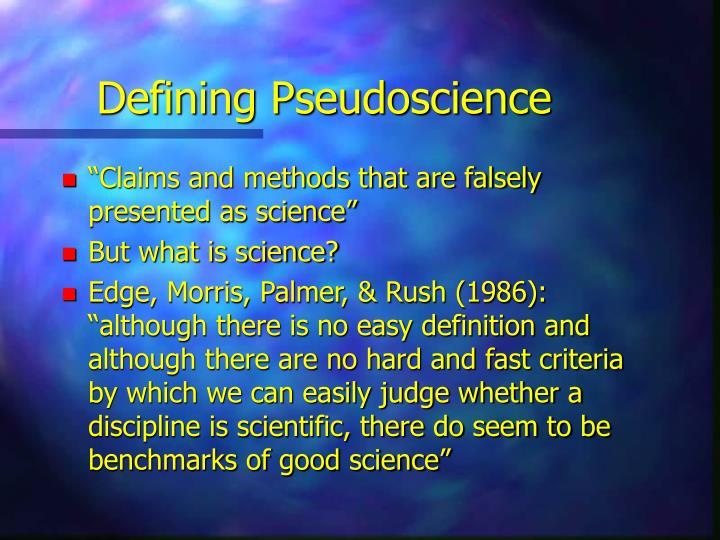 Defining Pseudoscience