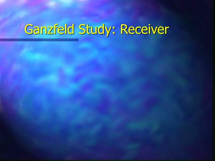 Ganzfeld Study: Receiver