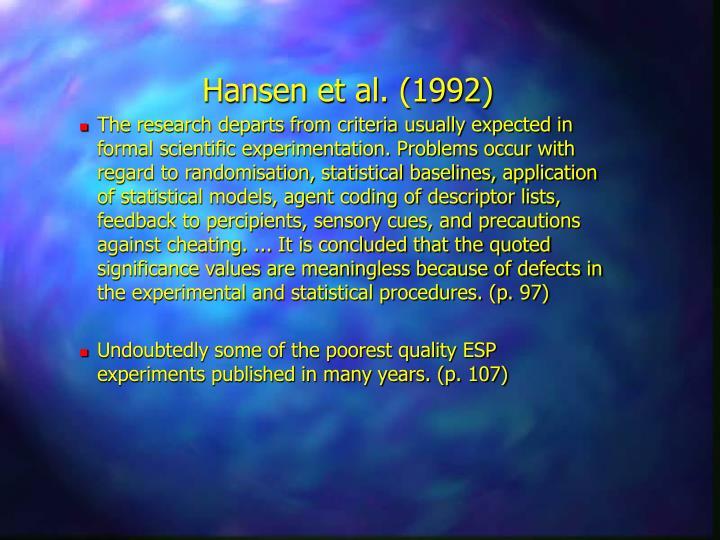 Hansen et al. (1992)