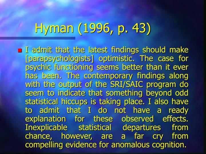 Hyman (1996, p. 43)
