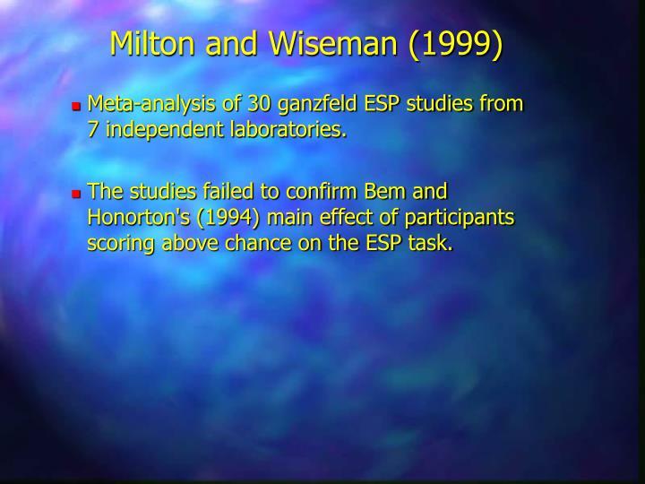 Milton and Wiseman (1999)
