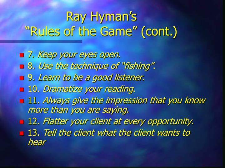 Ray Hyman's