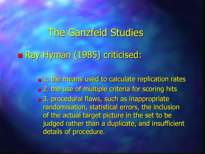 The Ganzfeld Studies