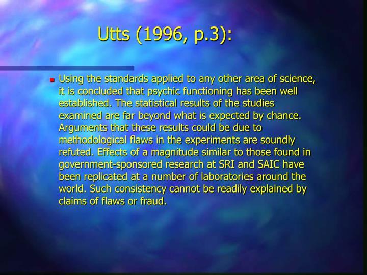 Utts (1996, p.3):