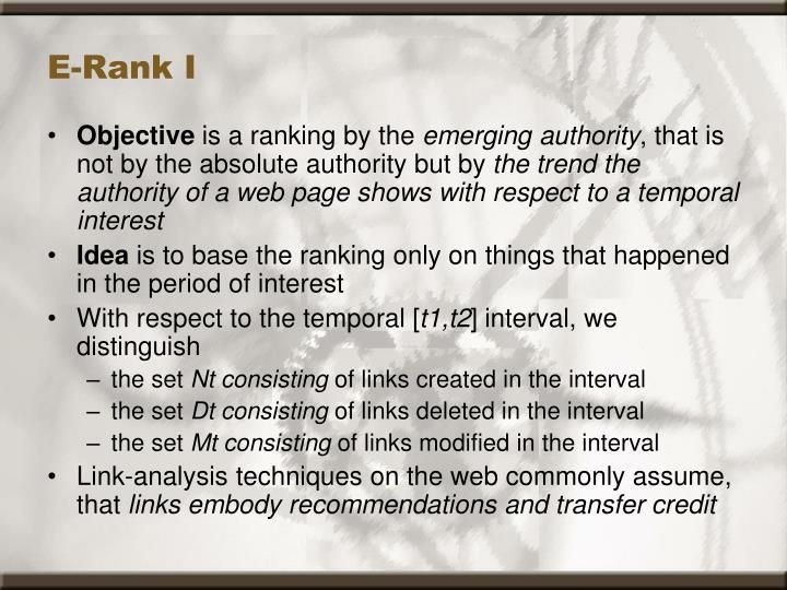 E-Rank I