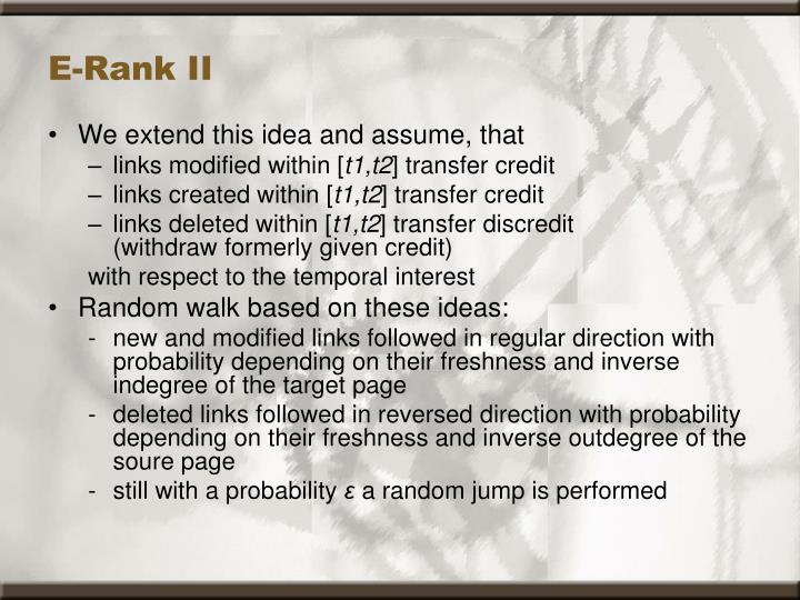 E-Rank II