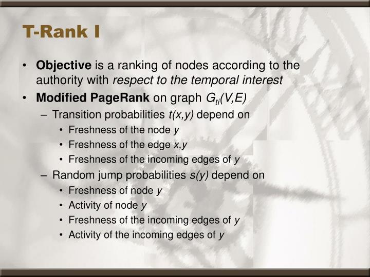 T-Rank I