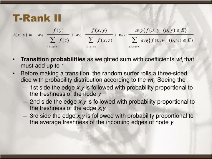 T-Rank II