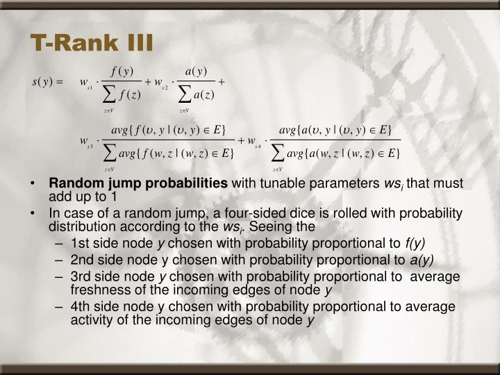 T-Rank III
