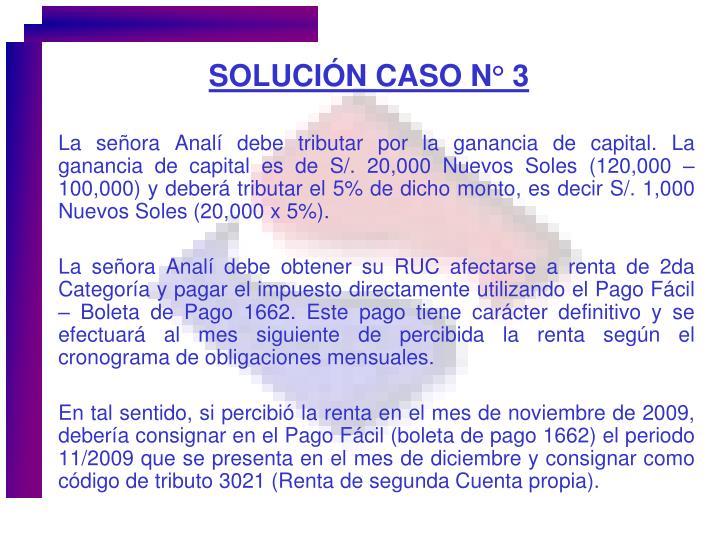 SOLUCIÓN CASO N° 3