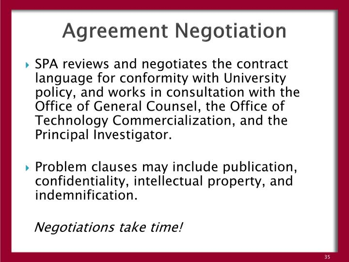 Agreement Negotiation