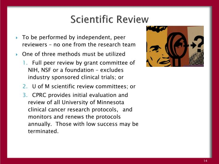 Scientific Review