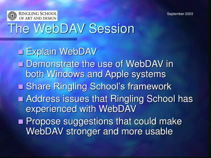 The webdav session