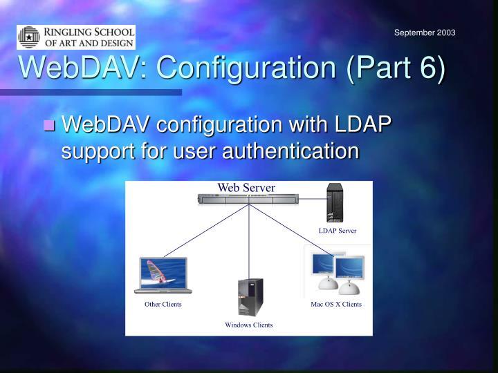 WebDAV: Configuration (Part 6)