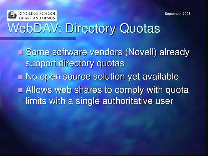 WebDAV: Directory Quotas