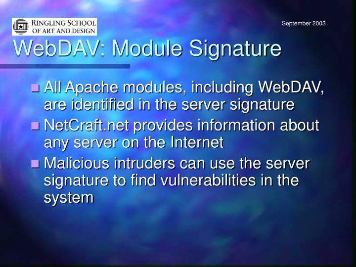 WebDAV: Module Signature