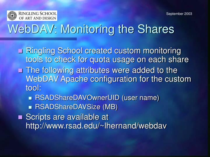 WebDAV: Monitoring the Shares