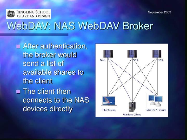 WebDAV: NAS WebDAV Broker