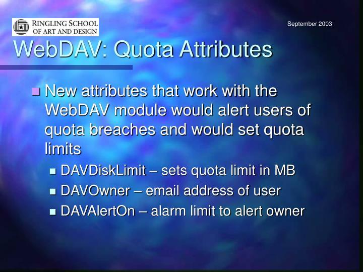 WebDAV: Quota Attributes