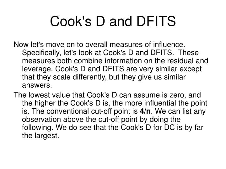 Cook's D and DFITS
