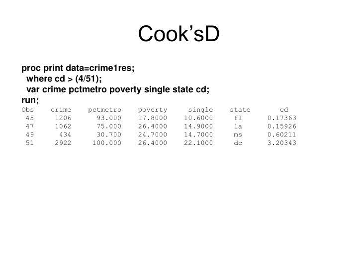 Cook'sD