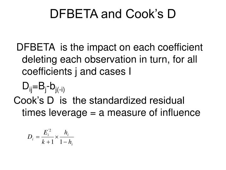 DFBETA and Cook's D